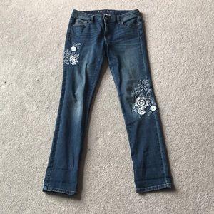White House Black Market Embroidered Jean